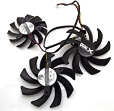 Tebuyus Replacement Video Card Cooling Fan For R9 270X R9 280X R9 290X Vapor-X OC TOXIC Graphics Card Fan PLD09210D12HH/PLD08010S12HH 12V 0.4A 85mm/75mm 4 Pin
