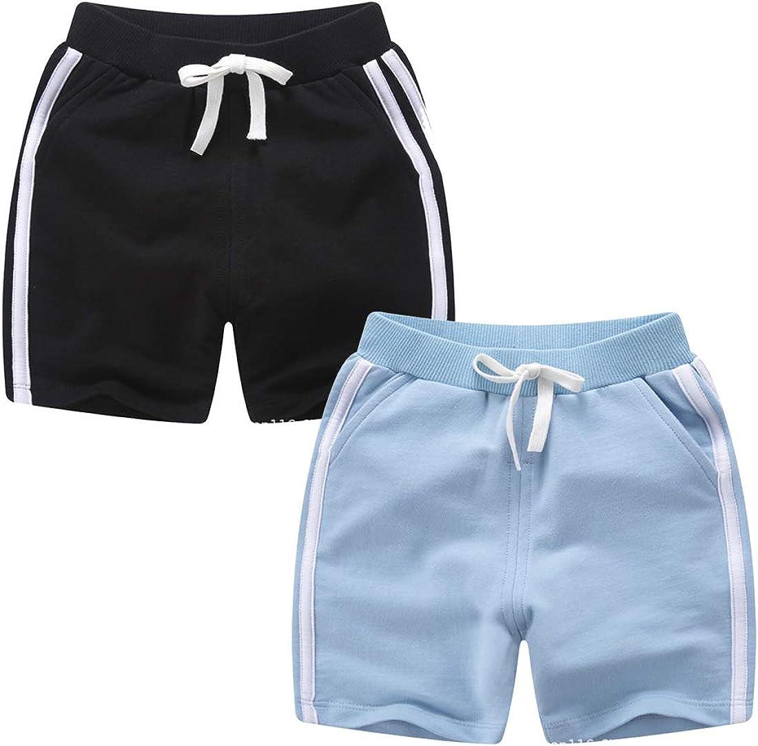 qtGLB Girls Shorts 3-Pack 100/% Cotton Active Athletic Running Sleeping for Toddler Kids Big Girls