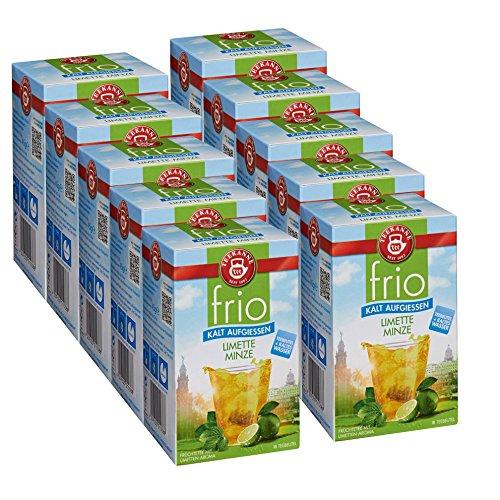 Teekanne frio Limette Minze, 18 Teebeutel 10er Pack