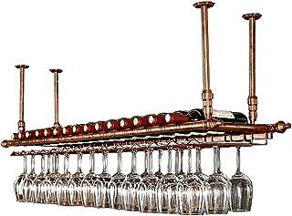 Wijnrek aan de muur gemonteerd   Metalen ophangrek   Tafelhouder   Stemware-rekken   Hangende Wijnglazen houder   Wijnfles...