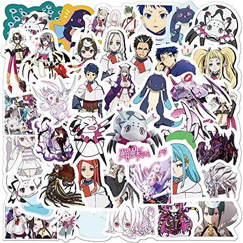 ZIWEI Anime What About Reencarnation Into Spider Graffiti Pegatinas Decorar Maleta Notebook Skateboard Pvc Sticker 50pcs