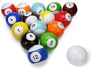Electric Magic 16 Pcs Gaint Snookball Snook Ball Snooker Street Soccer Ball Game Huge Billiards Pool Football Sport Poolball