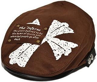 Lovely/Fashion Baby Boys Beret Cap Short Brim hat Maple Leaf Design Brown