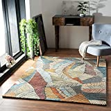 the carpet Rustic Eleganter, Hochwertiger, Wohnzimmer Teppich, Softer Kurzflor, Farbecht, dichter Kurzflor, Farbenreich, Bunt, 120 x 170 cm