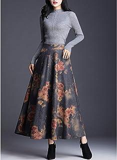 2018新款韩版半身裙女长款毛呢秋冬A字裙子港味长裙