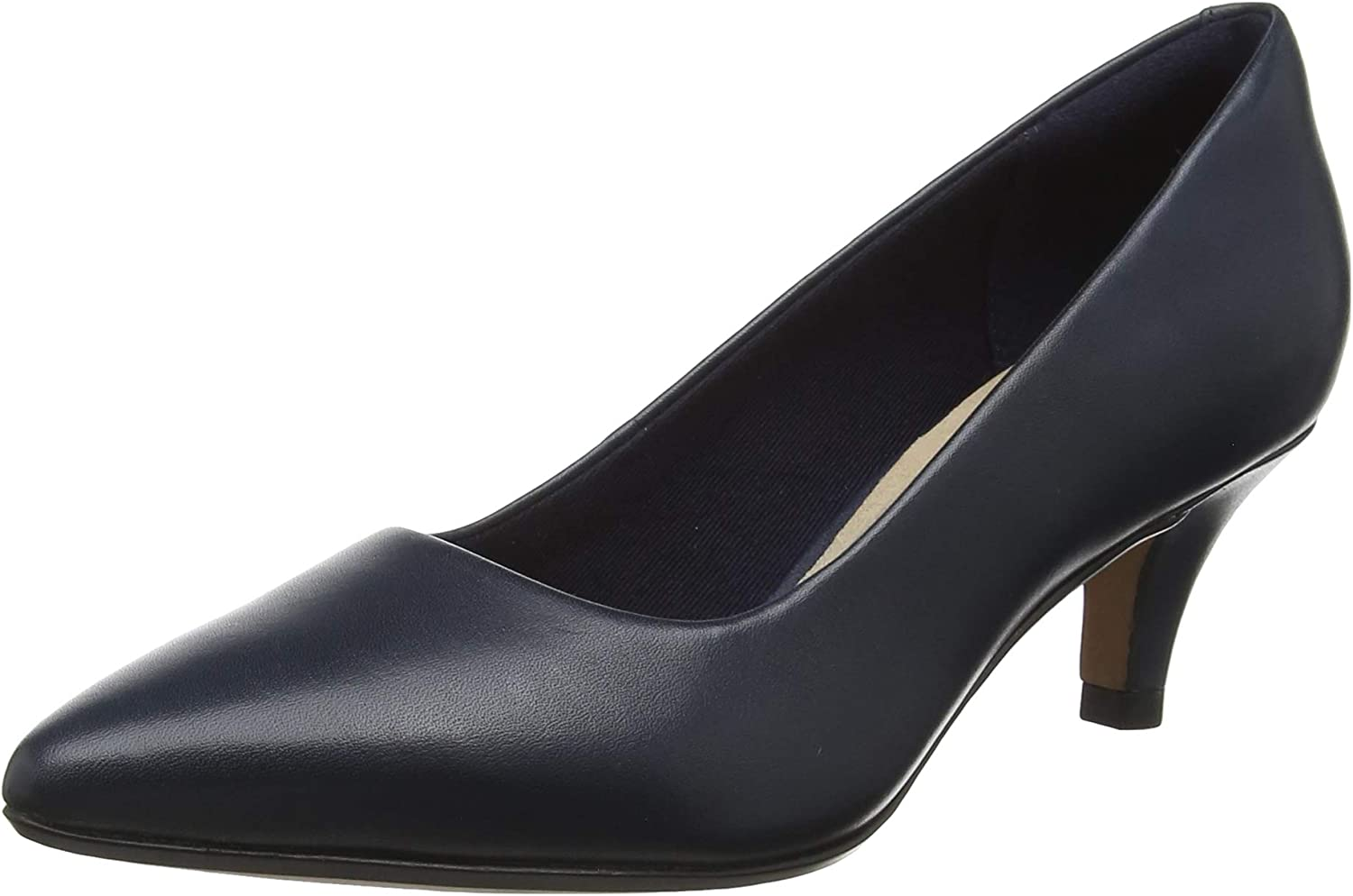 Clarks Linvale Jerica Womens Pointed Leather Court shoes