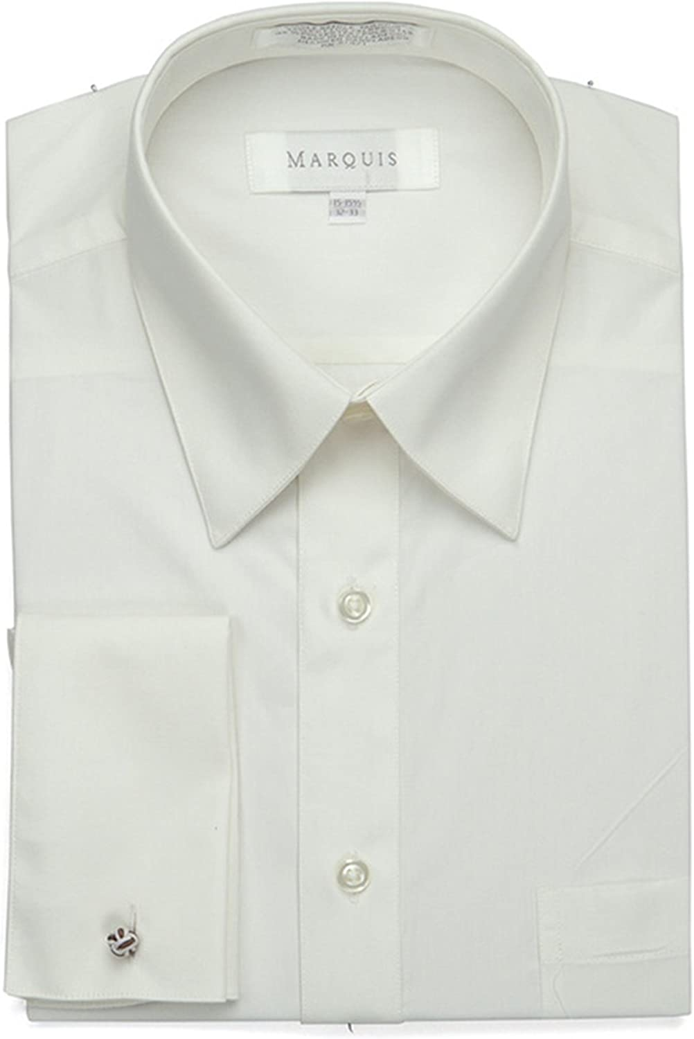 Marquis lowest price Men's Regular Seasonal Wrap Introduction Fit French Cuff Shirt Cufflinks In - Dress