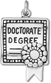 Sterling Silver Doctorate's Degree Diploma Graduation Charm Item #42093