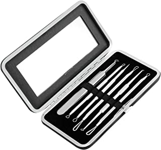 Minkissy 6pcs Blackhead Extractor Kit Pimple Comedone Extractor Tool Stainless Steel Pimple Popper Remover Needle for Pimp...