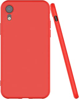 Shamo's Thin Case for iPhone XR with Soft Microfiber Cloth Lining Cushion, Slim Fit Flexible Soft TPU, Matte (Red)