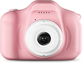 Agassi Kids Camera ,Digital Camera for Kids,Digital Video Camera Children Creative DIY Camcorder with Rechargeable Battery Birthday / Christmas / (16G TF Card Included),Pink