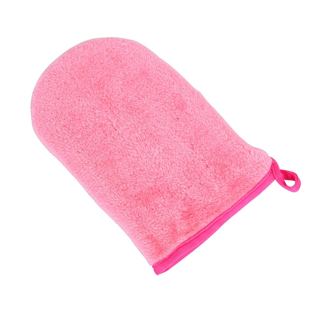 最後におしゃれじゃない噂HEALIFTY フェイシャルクリーニンググローブメークアップリムーバー手袋再利用可能なフェイシャルクロスパッド(ロージー)