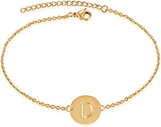 Bifriend A-Z Initial Anklet Letter Bracelet for Women Girls Letter Bracelet Adjustable Charm 26 Letter Chain