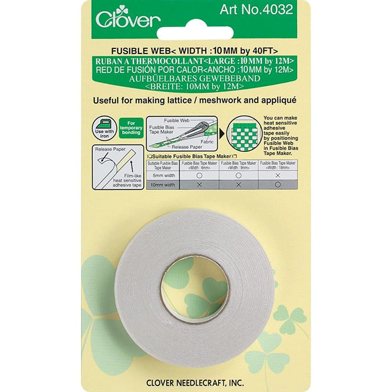 Clover Fusible Web Tape-10mmx40'