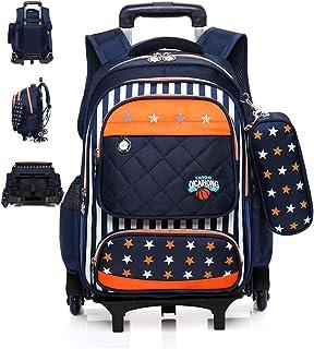 Mochila con Ruedas Trolley Mochila para Niños Extraíble School Triangle Wheels Trolley Backpack Extraíble 6 Ruedas Mochila Multipropósito