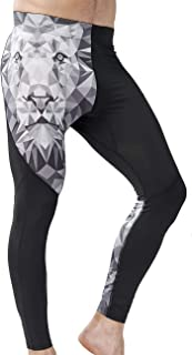 HUGE SPORTS Men's Compression Pants Baselayer Cool Dry Sports Tights Workout Leggings