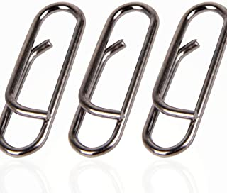 Alwonder 40 Counts Power Clips Stainless Steel Fast Link Fishing Snap Lure Connector Freshwater Saltwater 150-250Lb