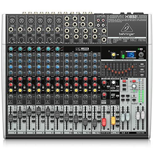 Behringer XENYX X1832USB 18-Kanal 3/2 Bus Mischpult mit XENYX Mic Preamps, 1-knob Kompressoren, 24-bit Multi-FX und USB Audio Interface