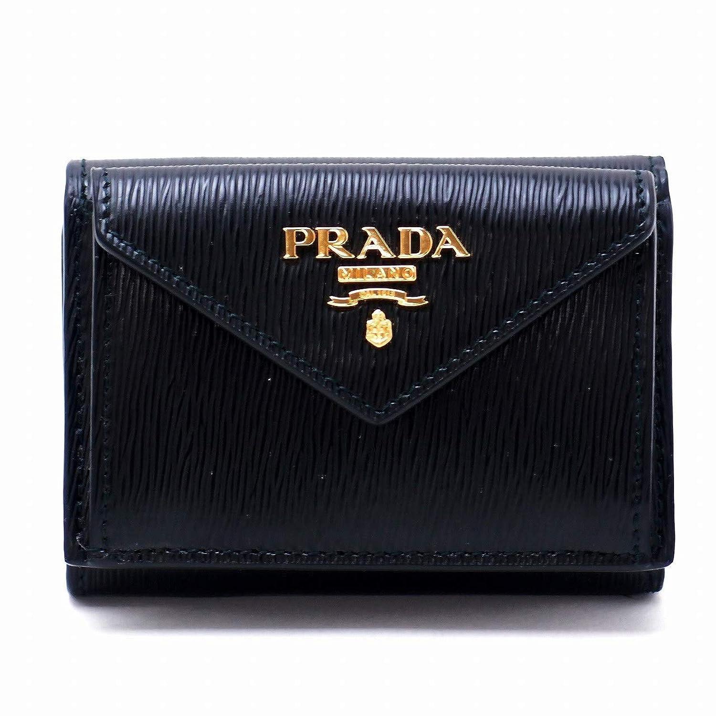 [プラダ] PRADA 財布 三つ折り財布 レディース VITELLO MOVE NERO 黒 ブラック 1MH021-2B6P-F0002 [アウトレット品] [並行輸入品]