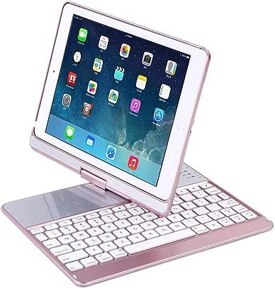 BALALALA Bluetooth Tastatur Schutzh lle f r 24 6 cm iPad Smart Ultra Slim 360 Grad drehbar Schutzh lle H lle ipad tastatu mit Broadcom Chip kompatibel der iPad 5 6 pro9 7 New iPad Schätzpreis : 64,99 €