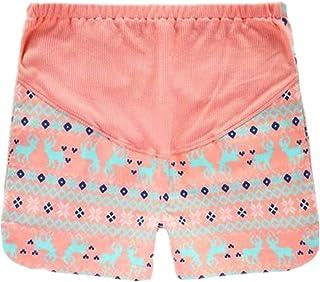 ebacfd97a44 GIFTPOCKET Women s Spring Summer Woven Cotton Maternity Shorts