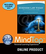 MindTap Business Law for Miller's Business Law Today: Text & Summarized Cases: Diverse, Ethical, Online, and Global Environment, Standard Edition, 10th Edition