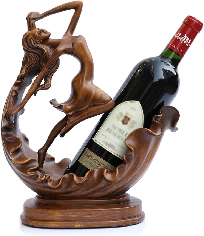 SYF Rack European Home Creative Wine Rack   Wine Rack Resin Wine Cabinet   Decorative Wine Rack Display Stand   Crafts Display 27x14x33cm A+