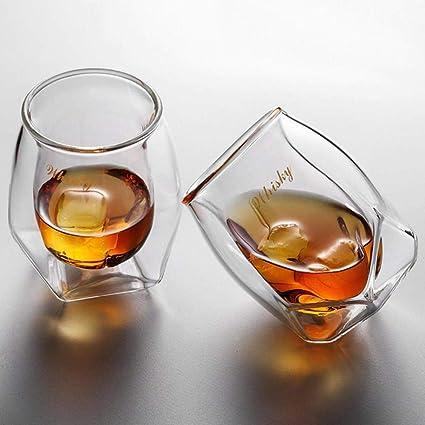 Zhengshi Doble acristalamiento diseño Ron Copa de Vino ...