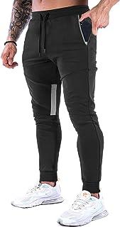 GANSANRO Mens Joggers Sweatpants Slim Fit Mens Athletic Jogger Pants, Sweatpants for Men with Zipper Pockets