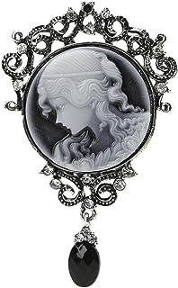 Xuniu Pin de Broche de la Vendimia, joyería Elegante de la señora de Las Mujeres Colgante Antiguo del camafeo de Victorian