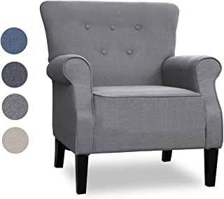 Top Space Accent Chair Sofa Mid Century Upholstered Roy...