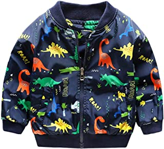 Tronet Infant Baby Girls Kids Coats Dinosaur Warm Winter Outerwear Jacket Outfits for 1-6 Years Old