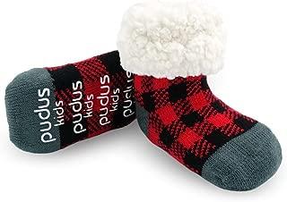 Cozy Kids & Toddler Slipper Socks with Non-Slip Grippers & Warm Fleece Lining