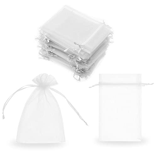 28ae41da34 SumDirect 100Pcs 4x6 Inches Sheer Drawstring Organza Jewelry Pouches  Wedding Party Christmas Favor Gift Bags (