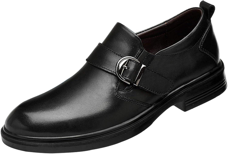 Men's Leather Casual Business Dress Derby shoes Plus Cotton Warm Wedding Oxford shoes