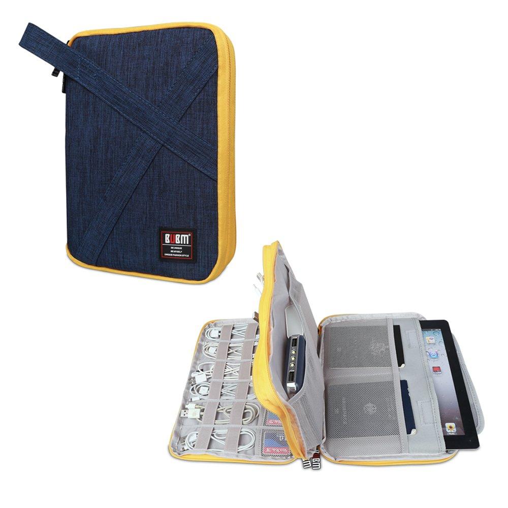 BUBMは美しいDIPデータケーブルパッケージポータブルバッグUディスクパッケージラインでなければなりません材料収納袋ヘッドセットバッグ携帯電源パック多機能デジタルアクセサリー収納袋(2層増加(20 * 27.5 * 4 CM)、青)