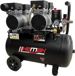 HEMAK HK SK50/8 2 Silent Kompressor Druckluft Kompressor 50 L 8 Bar Flüster