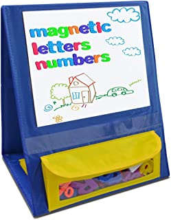 Eamay Magnetic Desktop Tabletop Stands Pocket Chart Foldable Whiteboard Easel Classroom Tool for Kids Education
