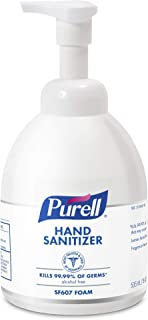 PURELL SF607 Advanced Hand Sanitizer Foam, Fragrance Free, 535 mL Sanitizer Counter Top Pump Bottles (Pack of 4) - 5784-04