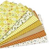7 Stück 49cm * 49cm Gelb Baumwollstoff,patchwork