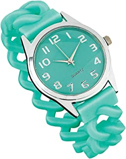 Women's Easy To Read Silicone Strap Stretch Band Watch