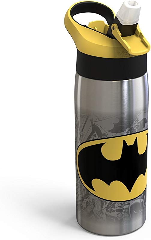 DC Comics Batman Zak Designs 20oz Stainless Steel Water Bottle Yellow Black