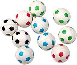 Schramm® 10 Stück Flummis Fußball Design 27mm Flummi Springball Hüpfball Mitgebsel Tombola Kindergeburtstag 10er Pack