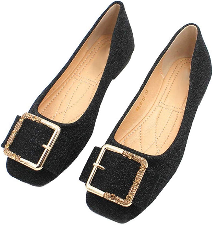 Phil Betty Women Flats shoes Square Toe Soft Soles Slip-On Comfort Dress Flats shoes