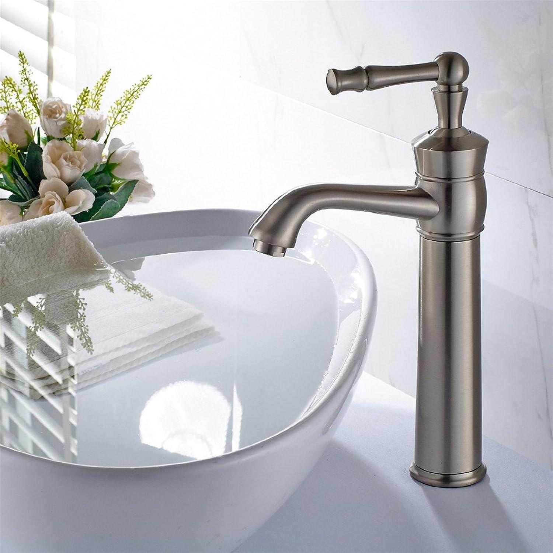 Bijjaladeva Antique Bathroom Sink Vessel Faucet Basin Mixer Tap The copper-nickel brushed bathroom basin mixer pagoda style table basin wash basins and cold water faucet