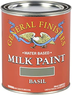 General Finishes QBA Water Based Milk Paint, 1 Quart, Basil