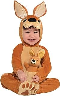 amscan 846820 Baby Jumpin' Joey Kangaroo Costume, 0-6 Months, Brown