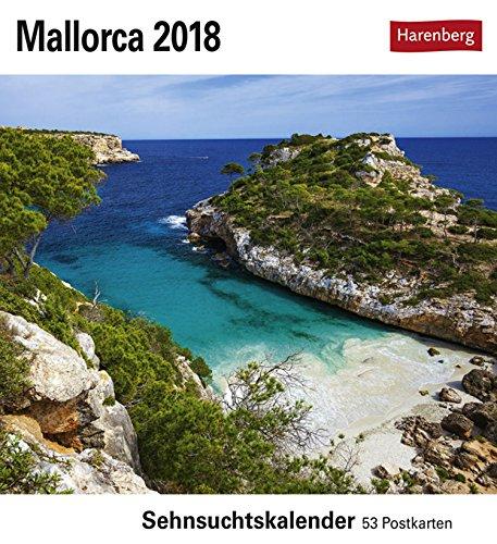 Sehnsuchtskalender Mallorca - Kalender 2018 - Harenberg-Verlag - Postkartenkalender mit 53 heraustrennbaren Postkarten - 16 cm x 17,5 cm