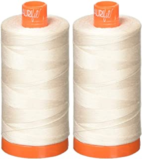 2-Pack - Aurifil 50WT - Oyster (2405) Solid - Mako Cotton Thread - 1422 Yards Each