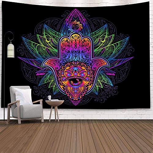 Tapiz de pared de mandala indio sol Luna árbol Tarot alfombra de pared psicodélico toalla de playa tapiz de tela de fondo A6 130x150cm